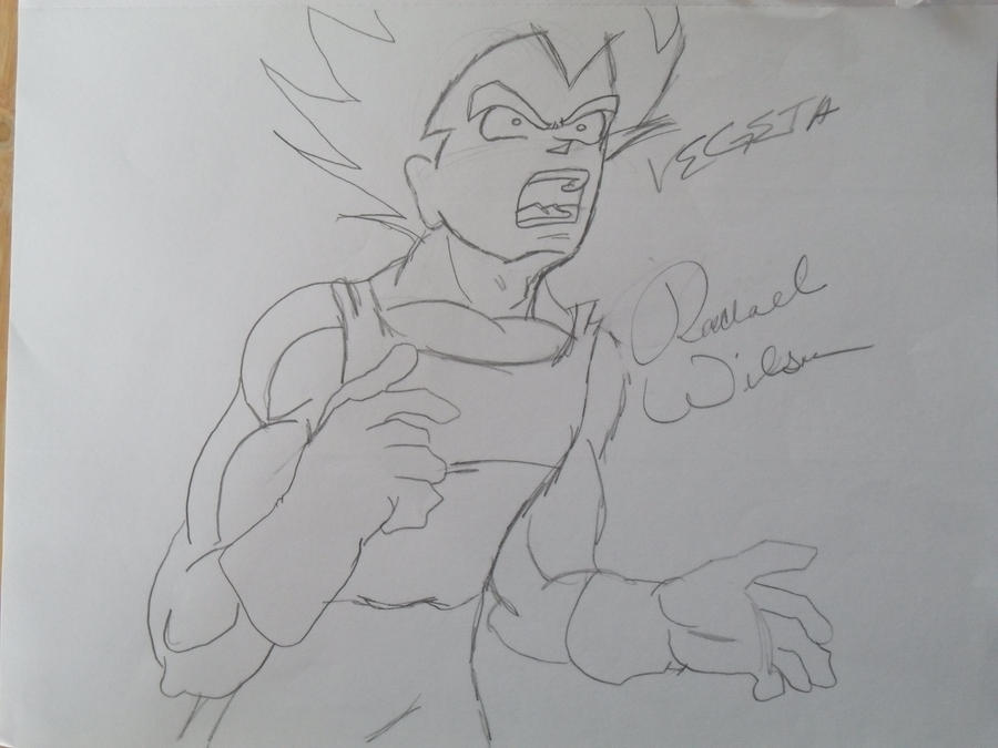 Vegeta Scared by HotIceHilda2011