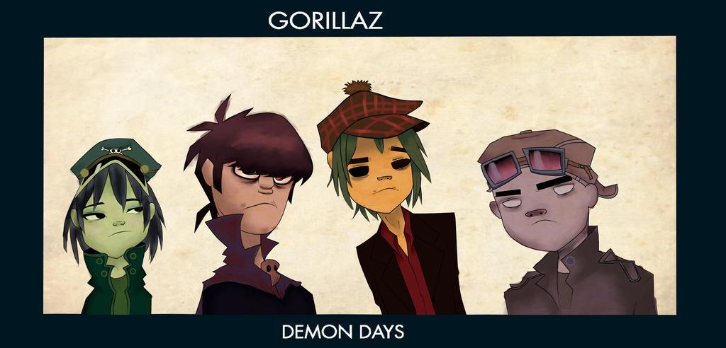 Gorillaz noodle demon days