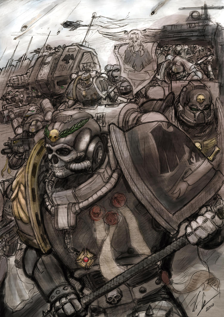[W40K] Collection d'images : Space Marines 40K_Raven_Guard_Deployment_by_Auzzymo