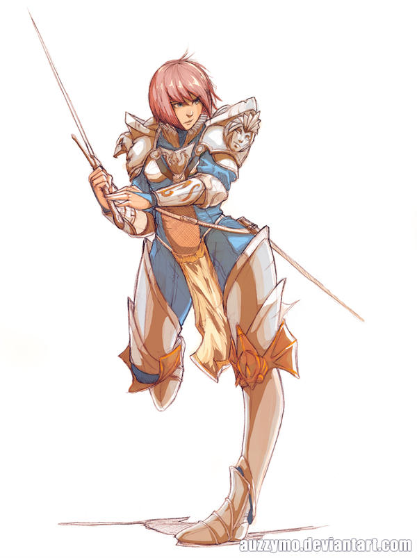 Female Knight coloured by Auzzymo ...  sc 1 st  DeviantArt & Female Knight coloured by Auzzymo on DeviantArt