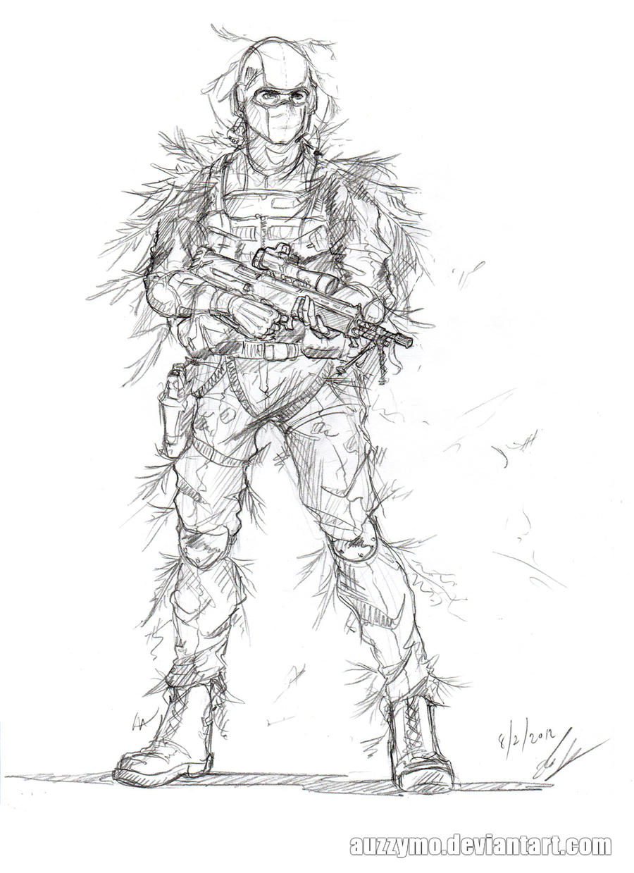 FallenSanity and his party Soldier_sketch_2_by_auzzymo-d4pnuts
