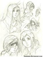 Random sketches 01 by Auzzymo