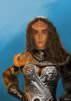 Klingon Self Portrait by SandKerion