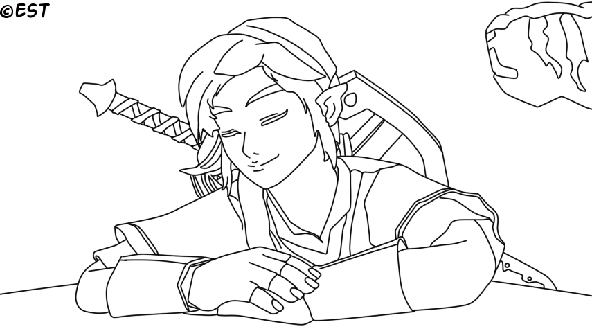 Line Art Zelda : Link skyward sword line art by usagitail on deviantart
