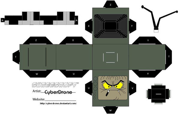 cubee evil edna by cyberdrone on deviantart. Black Bedroom Furniture Sets. Home Design Ideas