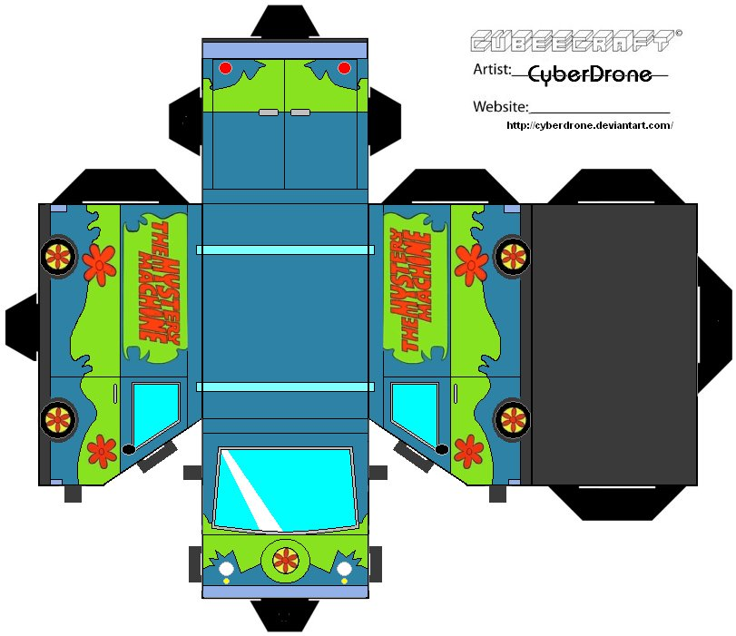 Cubee - The Mystery Machine by CyberDrone