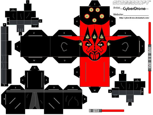 Cubee - Darth Maul by CyberDrone