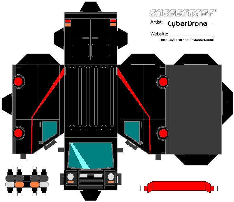 Cubee - The A-Team Van by CyberDrone