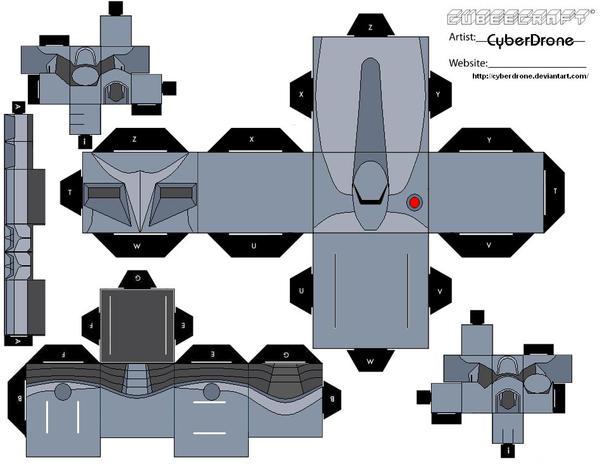 Как сделать из бумаги корабль из звездных войн схема
