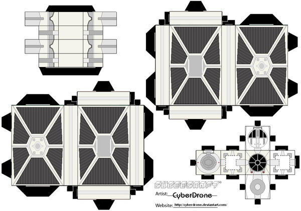 cubee tie fighter 39 white 39 by cyberdrone on deviantart. Black Bedroom Furniture Sets. Home Design Ideas