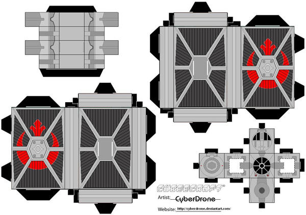 Cubee - TIE Fighter 'Rebel' by CyberDrone