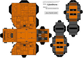 Cubee - Jawa Sandcrawler by CyberDrone