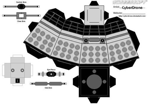 Cubee-Classic Dalek 1 'B-W'