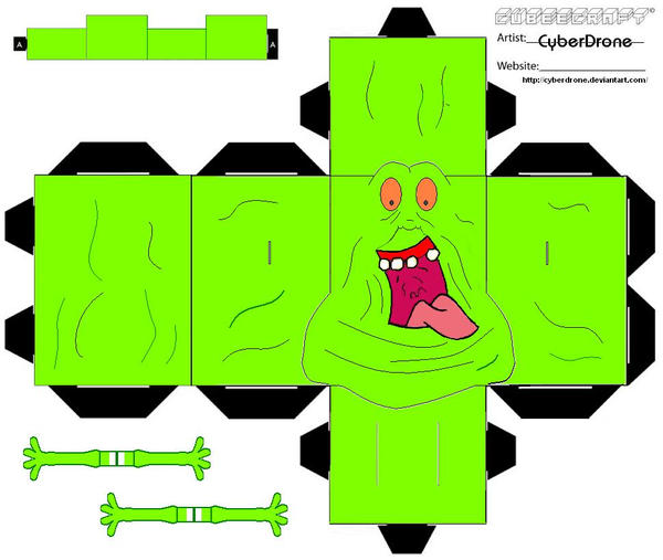 Cubee - Slimer 'Ver2' by CyberDrone