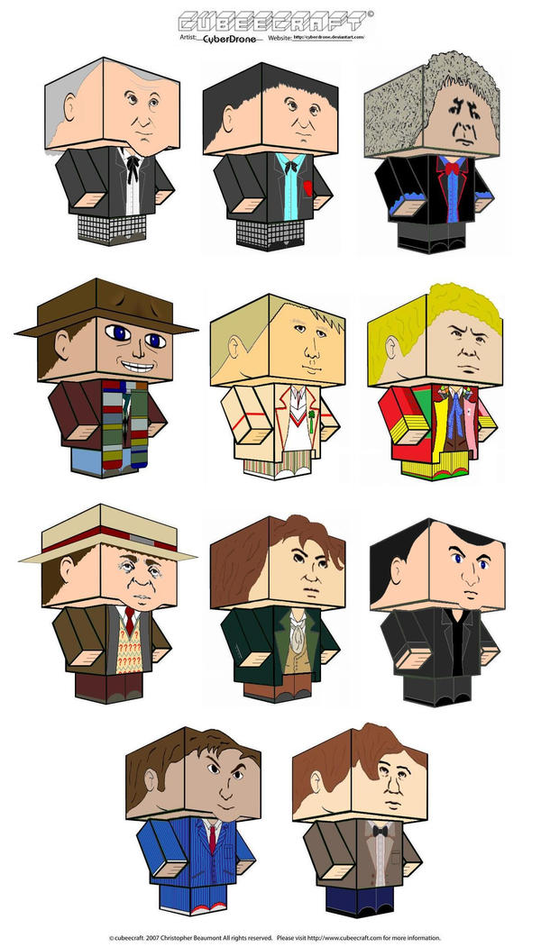 Cubeecraft - 11 Doctors by CyberDrone