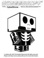Cubeecraft - Skeleton by CyberDrone