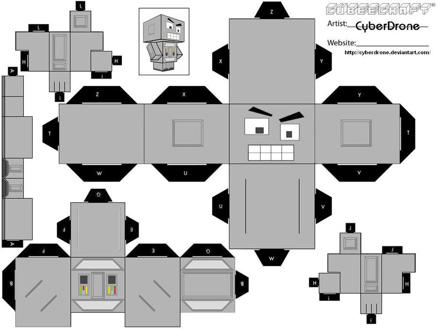 cubee crazy robot by cyberdrone on deviantart. Black Bedroom Furniture Sets. Home Design Ideas