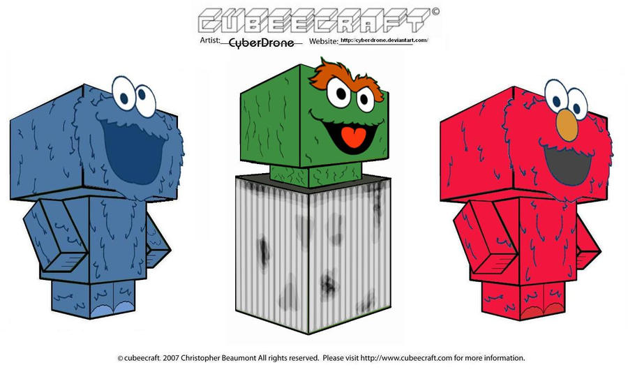 Cubeecraft - Sesame Street by CyberDrone