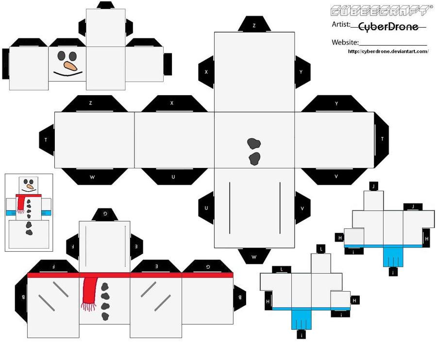 Cubee Snowman Ver1 By Cyberdrone On Deviantart