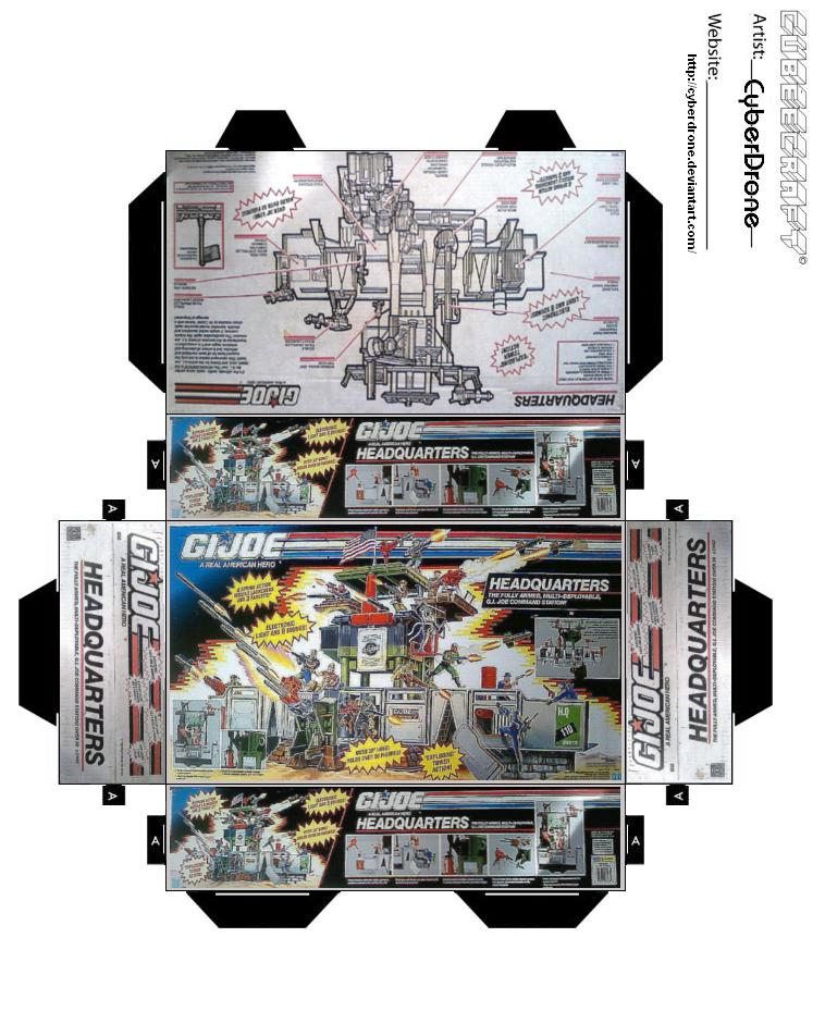 Mini GIJoe Headquarters Toybox