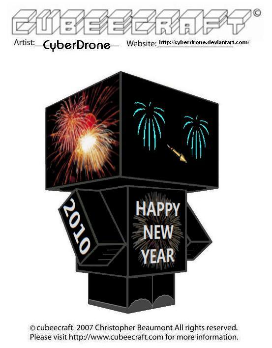 Cubeecraft - New Year 2010 by CyberDrone on DeviantArt
