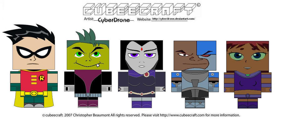 Cubeecraft - Teen Titans by CyberDrone