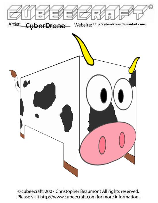 Cubeecraft - Cow by CyberDrone