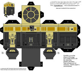 Cubee - R3-S6 'Goldie' by CyberDrone