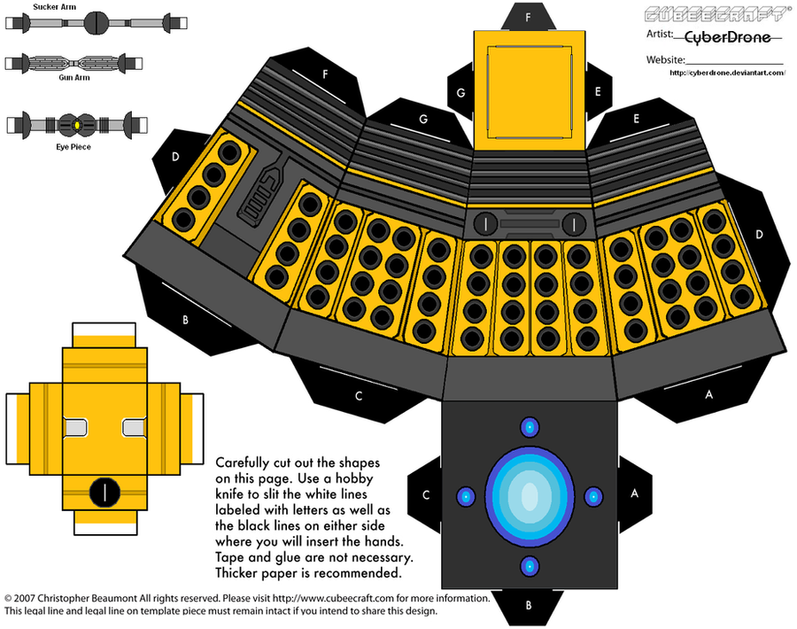 Cubee - Dalek 2010 'Ver1' by CyberDrone