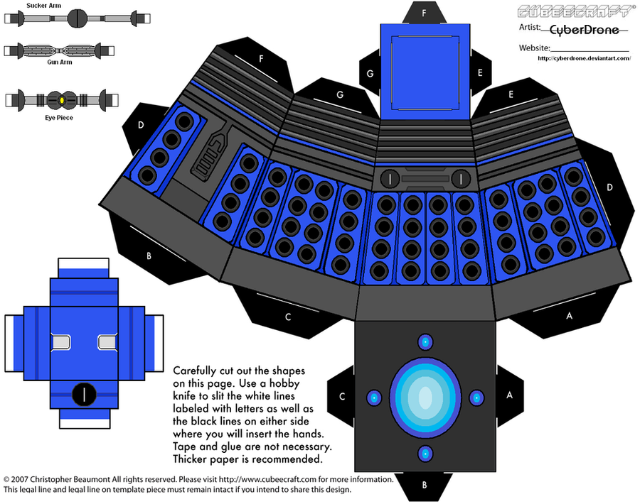 Cubee - Dalek 2010 'Ver2' by CyberDrone