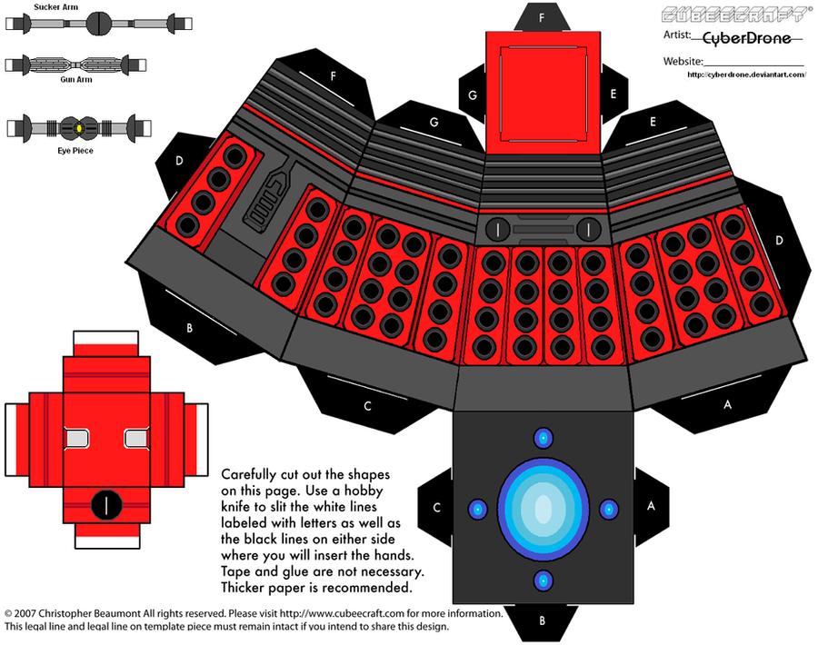 Cubee - Dalek 2010 'Ver3' by CyberDrone
