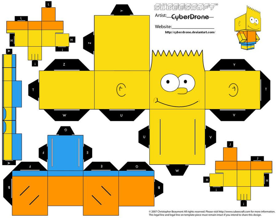 Cubee - Bart Simpson by CyberDrone