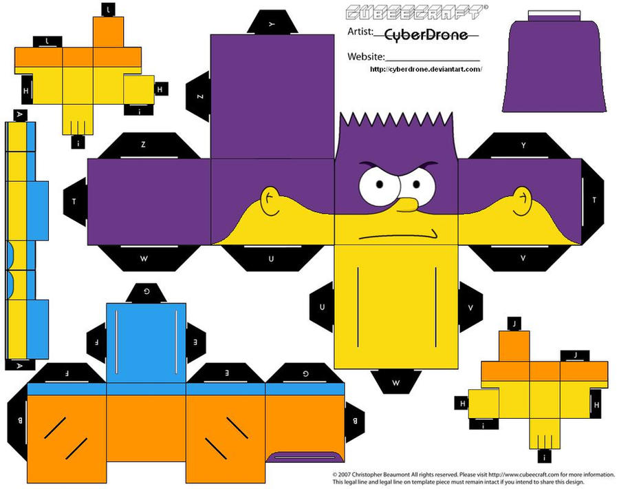 Cubee - Bart Man by CyberDrone