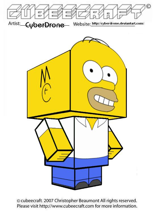 Cubeecraft - Homer Simpson by CyberDrone