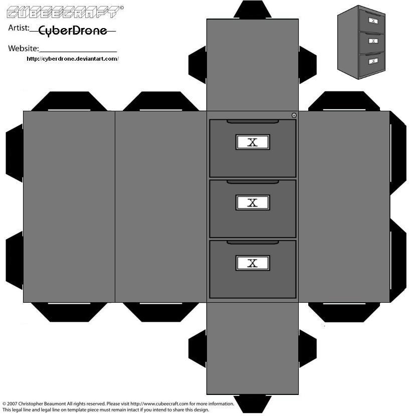 Cubee - X-Files Cabinet by CyberDrone on DeviantArt