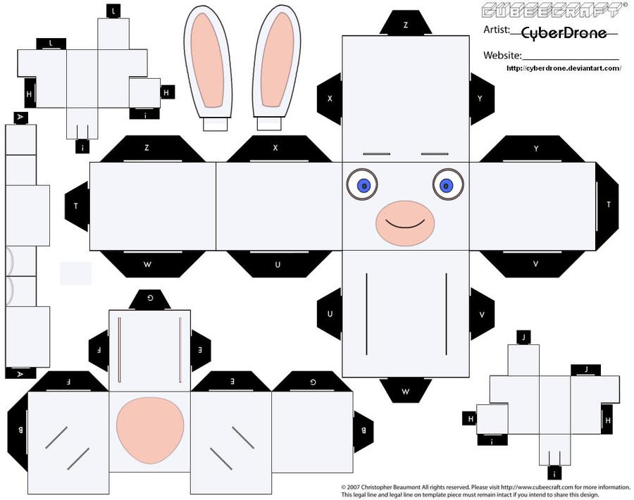 Cubee- Raving Rabbid 'Ver2' by CyberDrone