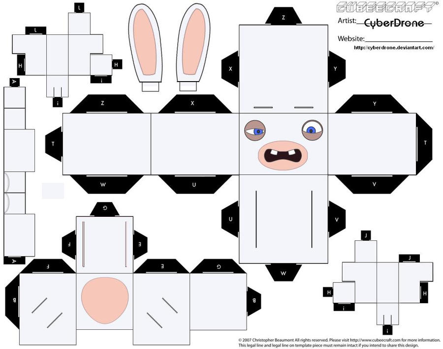 Cubee- Raving Rabbid 'Ver3' by CyberDrone