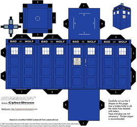 Cubee - Bad Wolf TARDIS by CyberDrone