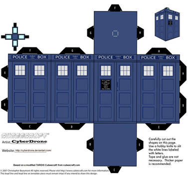 Cubee - Classic TARDIS by CyberDrone
