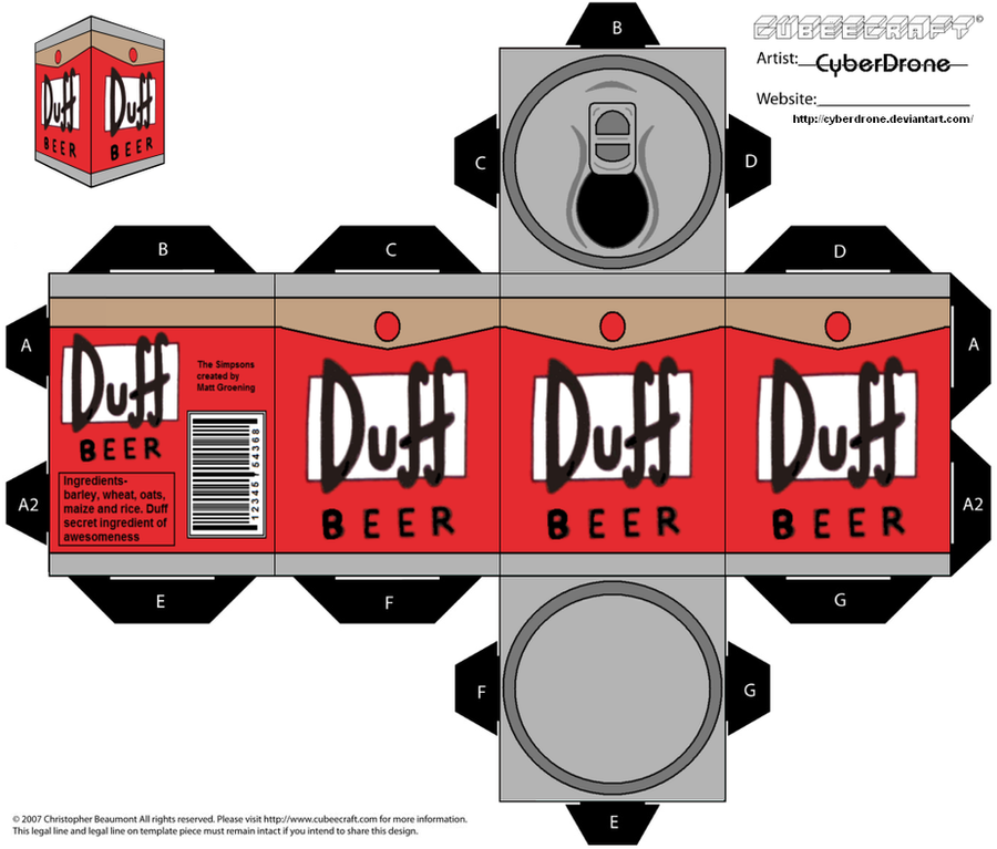 Cubee - Duff Beer by CyberDrone