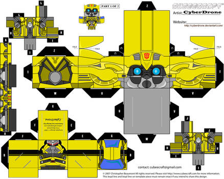 Cubee - Bumblebee 1 'Movie' by CyberDrone