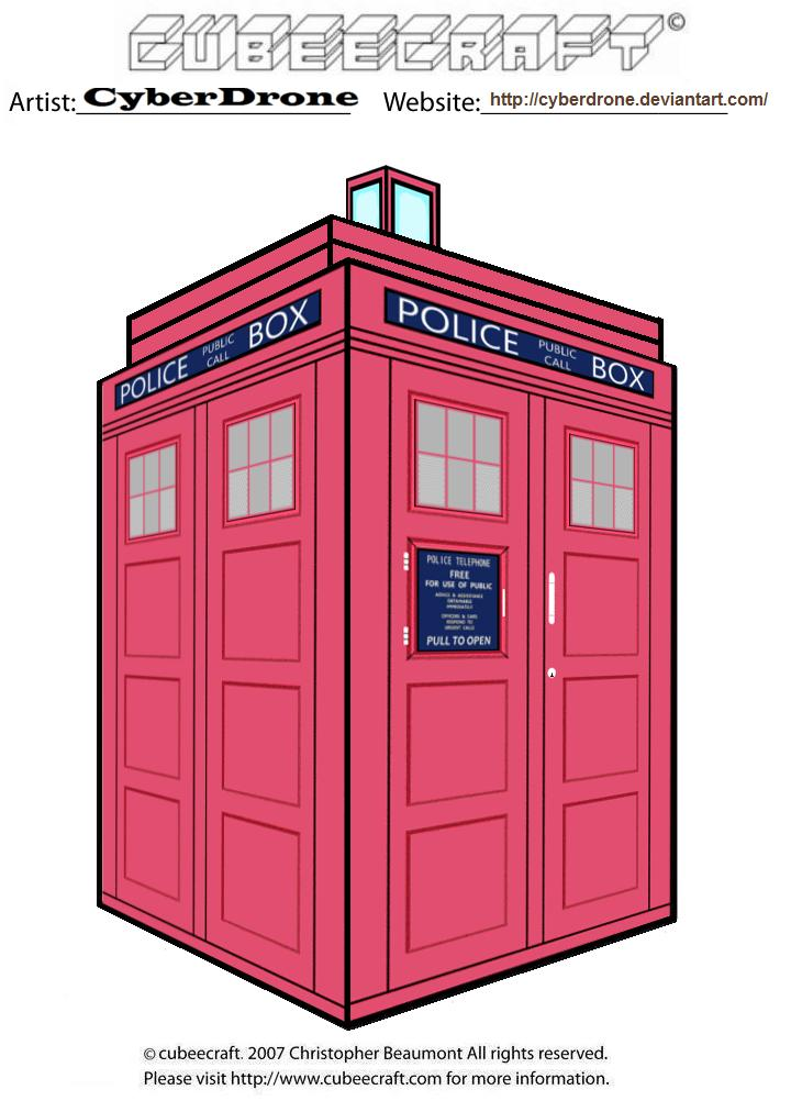 Cubeecraft - TARDIS 'Pink' by CyberDrone