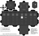 Cubee - Classic TARDIS B-W
