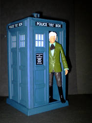 The 3rd Doctor and TARDIS by CyberDrone