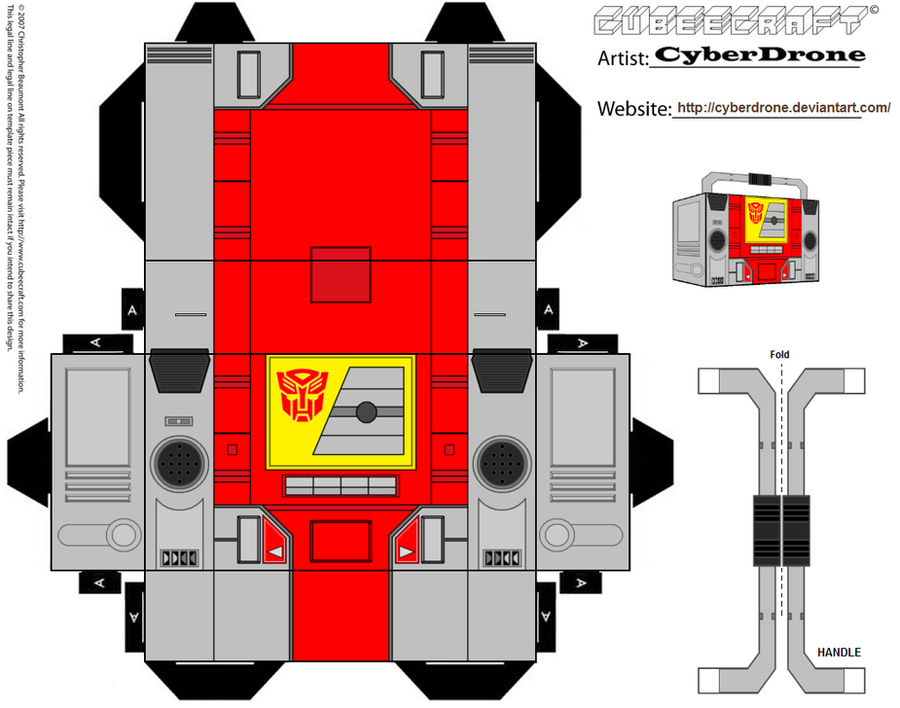 Cubee - Blaster 'G1' by CyberDrone