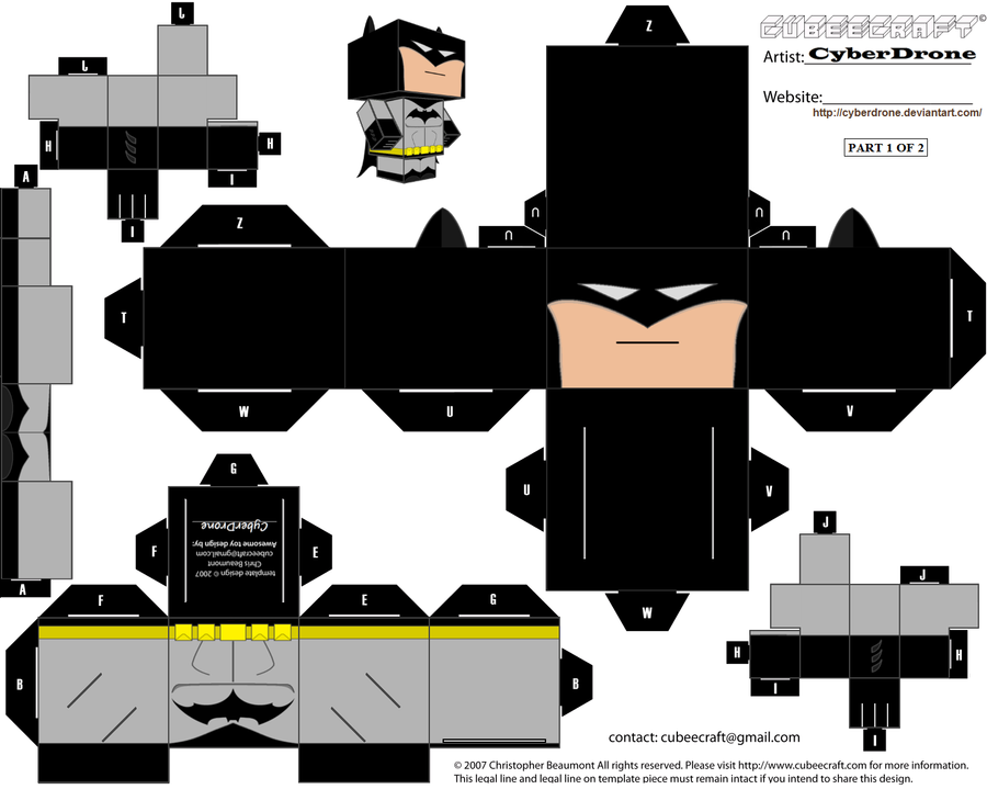 Cubee Batman 1of2 By CyberDrone On DeviantArt