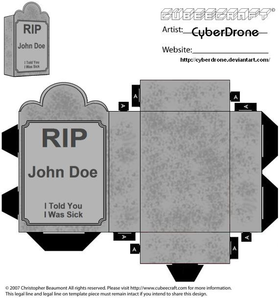 how to make a 3d tombstone