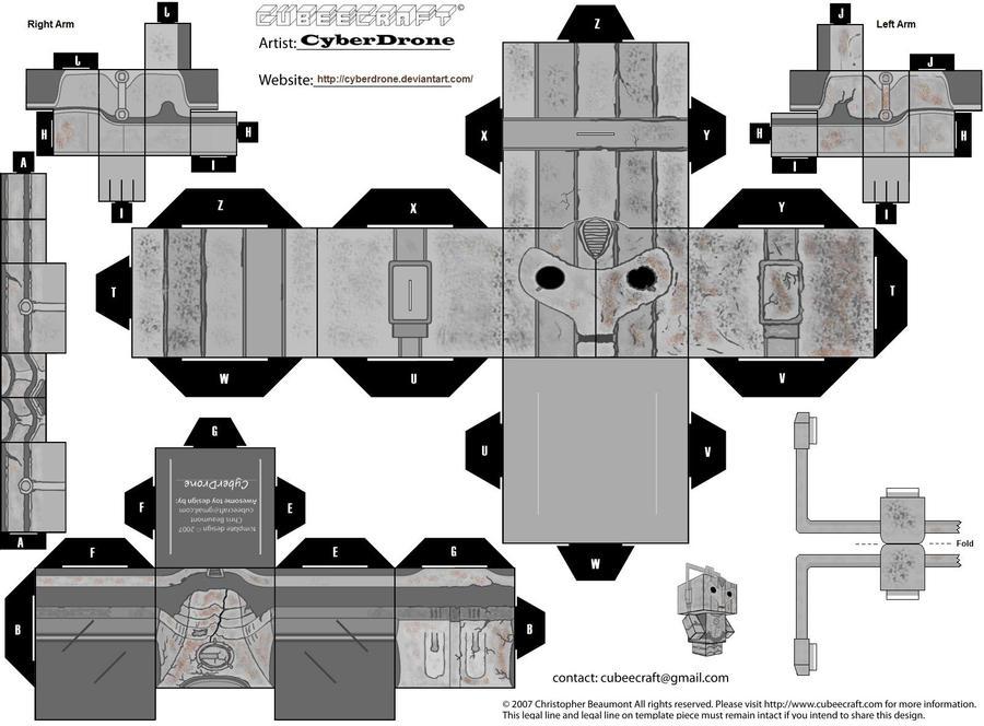 Cubee - Damaged Cyberman by CyberDrone