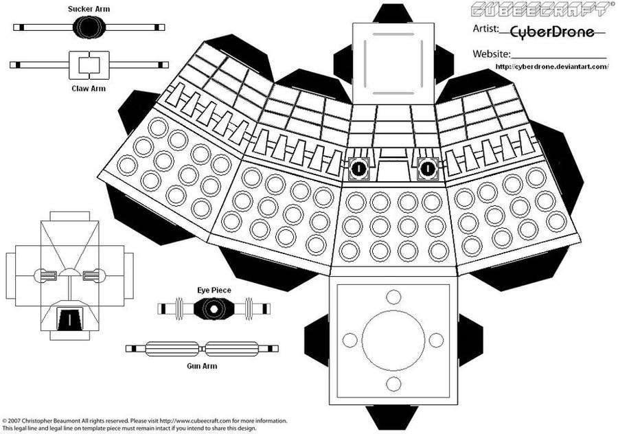 Cubee Dalek Blank By Cyberdrone