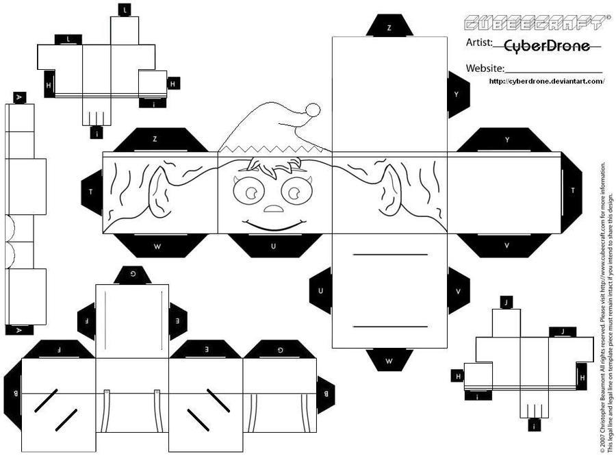 Papercraft Elfo Para Colorear Manualidades De Papel